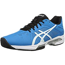 Asics Gel-Solution Speed 3 Clay, Zapatillas de Tenis para Hombre, Azul (Blue Jewel/white/black), UK-6