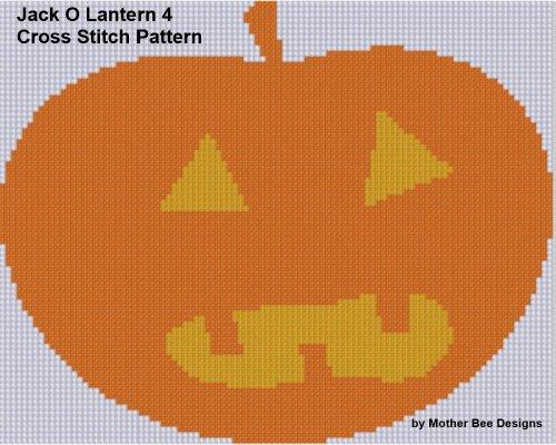 Jack O Lantern 4 Cross Stitch Pattern (English Edition)