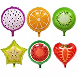 #8: Zibuyu 6pcs Colorful Fruit Balloons Birthday Party Decor Balloons for Kids Toys