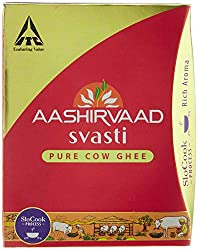 Aashirvaad Svasti pure cow ghee is made from process which enhances ghee's natural aroma and taste.