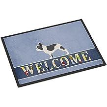 Caroline tesoros del bb5545mat francés Bulldog Felpudo de bienvenida, 18x 27, multicolor