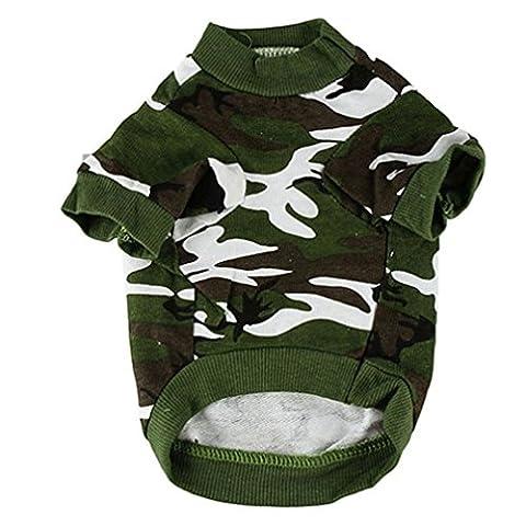 Alcyonée pour animal domestique Printemps Automne mignon Camouflage Coton Gilet Chat Chien Puppy Vêtements Apparel