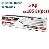 STARK Allround-Elektroden ca.185 St-5,0 Kg, 3mm x 350 mm,Rutile universale Stabelektrode zum Schweißen