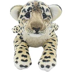 TAGLN Peluches Juguetes Tiger Animales Leopardo Guepardo León Pantera Almohadas (Guepardo Marrón, 40 CM)