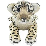 TAGLN Die Dschungel Tiere Gefüllter Plüsch Weiches Spielzeug Kinderkissen (40 cm, Brauner Gepard)