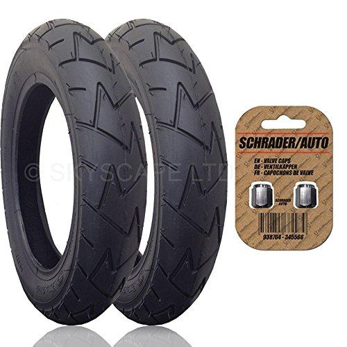 2-x-britax-b-motion-4-adatto-per-passeggino-passeggino-buggy-posteriore-pneumatici-a-fit-12-1-2-x-17