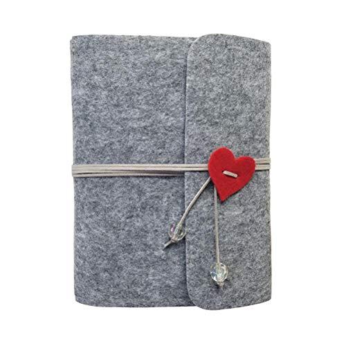 Ufamiluk Scrapbook Album DIY Fotoalbum Buch Selbstklebend Foto Album Hochzeit Album Fotoalben 20.1cm x 24.7cm, Grau-60 Seiten