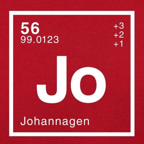 Johanna Periodensystem - Herren T-Shirt - 13 Farben Rot