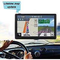 GPS de Coches y Moto Navigation Pantalla LCD Capacitiva De 7 Pulgadas Automovil ,Mapa De 48 Países,planifica Rutas inteligentes,Actualizaciones De Mapas