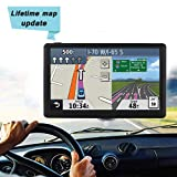 7 Pouces GPS Voiture,Ecran Tactile Système de Auto Navigation,Satellite Navigator avec Pare-Soleil,8Go Intégré Support Carte SD,Europe et UK 52 Carte Pays Mise à Jour Utilisation Gratuite