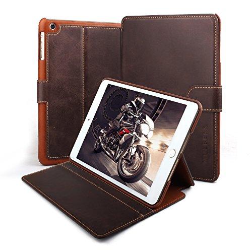Mulbess Ledertasche im Ständer Flip Case für Apple iPad mini 1 / 2 / 3 7.9 Zoll Tasche Hülle Leder Etui,Kaffee Braun