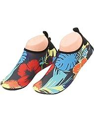 Fortuning's JDS Esquí acuático Deportes al aire libre Ligera Slip-on suave de la impresión floral de buceo Zapatos