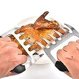 Leezo Carne Artiglio Zampa di Orso forchetta per Insalata casa BBQ, Mixer, Facilmente, sminuzzare, Tirare Sollevamento Petto di Manzo Pollo, Stainless Steel, 1 Paio