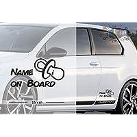 Schnuller - Schnulli | Baby - Name On Board | Wunschtext | Auto Aufkleber | Lustig | Baby On Board