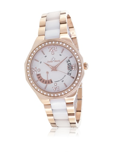 Stella-Maris-Womens-Quartz-Watch-with-White-Dial-Analogue-Display-and-White-Ceramic-Bracelet-STM13H427