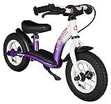 BIKESTAR Kinder Laufrad Lauflernrad Kinderrad für Mädchen ab 2 - 3 Jahre ★ 10 Zoll Classic Kinderlaufrad ★ Lila & Weiß