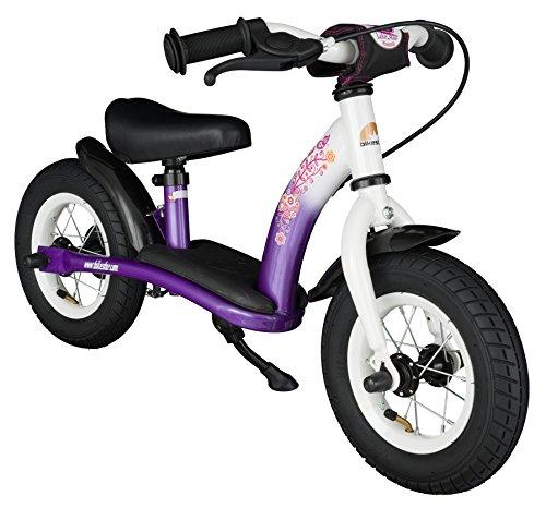 Bikestar Vélo Draisienne Enfants pour Garcons et Filles DE 2-3 Ans ★ Vélo sans pédales évolutive 10 Pouces Classique ★ Violet & Blanc