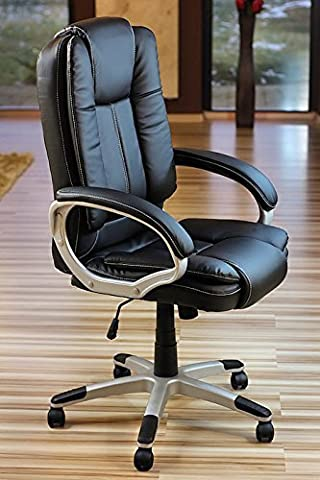 eMarkooz(TM) Manager Chair Executive Chair office Chair Boss Chair Swivel Leather Computer Desk Chair (Boss Extra Padded) by eMarkooz