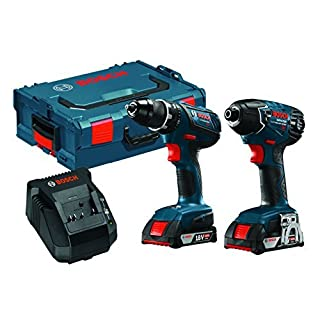 Bosch CLPK232A-181L 18V Lithium-Ion Cordless Drill/Driver and Impact Driver Combo Kit with L-BOXX by Bosch