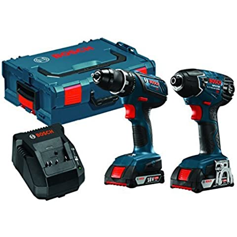 Bosch CLPK232A-181L 18V Lithium-Ion Cordless Drill/Driver and Impact Driver Combo Kit with L-BOXX by (Cordless Impact Driver Kit)