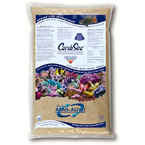 Aragonite - alive Reef Sand Fiji Pink 2/20lb Bags/case