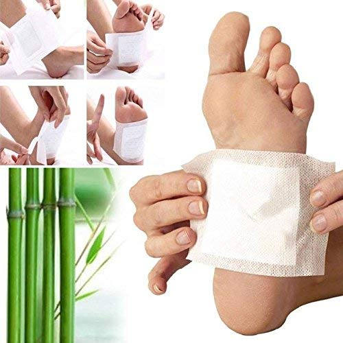 Xectes Kinoki Detox Foot Pads Patches Relaxation Massage Relief Stress Feet Care Improve Sleep Slimming Natural Plant
