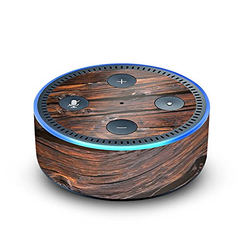 DeinDesign Amazon Echo Dot 2.Generation Folie Skin Sticker aus Vinyl-Folie Verwitterte Holzplanken Holz Look Holzboden