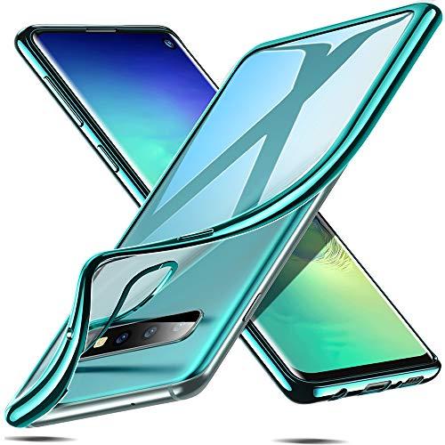 ESR Essential Crown Hülle kompatibel mit Galaxy Samsung Galaxy s10 Hülle - Klare weiche TPU Handyhülle - Dünne Schutzhülle mit Kameraschutz kompatibel für Samsung Galaxy S10 - Grün