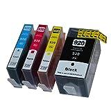 4 XL Druckerpatronen 920XL kompatibel mit Chip und Füllstandsanzeige für HP 920 XL OFFICEJET 6000 SE 6500A 7000 7500A W PRO