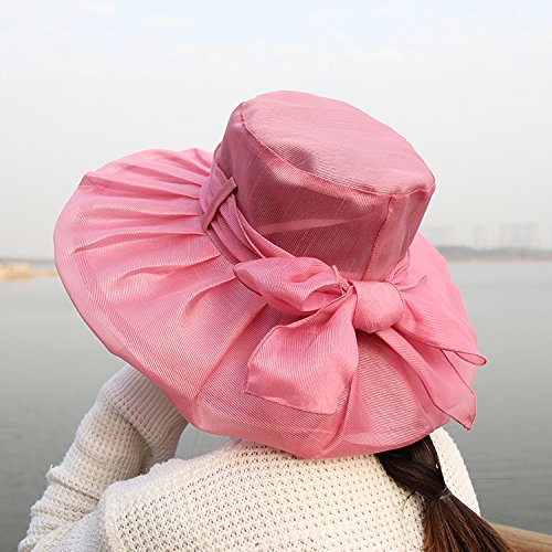 Upper-Pare-soleil pare-soleil Hat soleil d'auvents gaze pliée UV Mao Liang chiffon dentelle Beach Hat Transparent