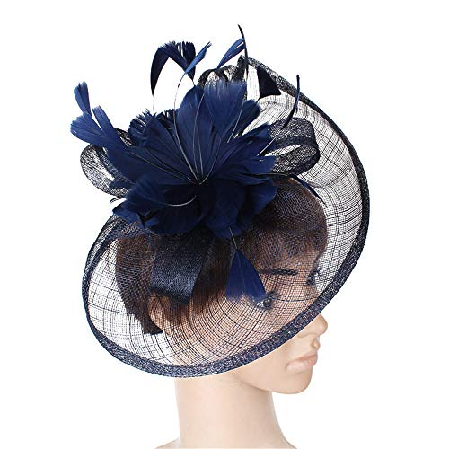 LYQ Princess Sinamay Blume Feder Stirnband Fascinator Hochzeit -