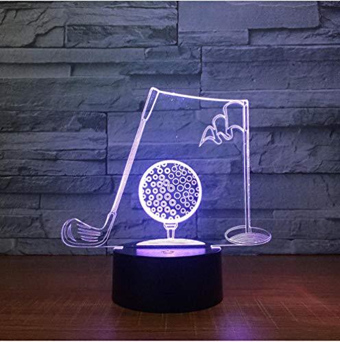Golf Clubs 3D Visuelle Tischlampe Acryl Nachtlicht Led 7 Farbwechsel Leuchte Schlafzimmer Büro Decor Für Geschenk Fernbedienung