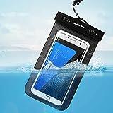 Funda Bolsa Móvil Impermeable, SAVFY® Universal 6 Pulgadas Certificado IPX8 (10m de Profundidad) para iPhone 6S 6 / 6S Plus SE 5S, Samsung Galaxy S6 S7 Nota 5 4, HTC LG Motorola Nokia Sony etc (Negro)