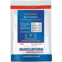 Muscleform MCT Powder Medium Chain Triglycerides 250g Resealable Pouch | Free Express Delivery