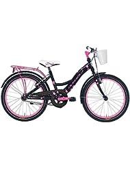 'Bicicleta Cicli Adriatica Girl de niña, estructura de acero, rueda de 20, sin cambio, 2 colores disponibles, Nero / Rosa