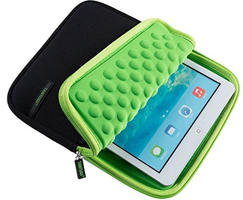 jlyifan 7~ 8tablets Neopren Sleeve Cover, der Fall Tasche für iPad Mini 4/Samsung Galaxy Tab A 8.07.0/Tab E 8.0/Tab S2Nook 8.0/Asus zenpad 320,3cm (grün/schwarz) (Tmobile Samsung Galaxy S2 Case)