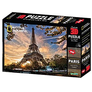 National Geographic - 10080 Puzzle 3D Paris - 500 Piezas