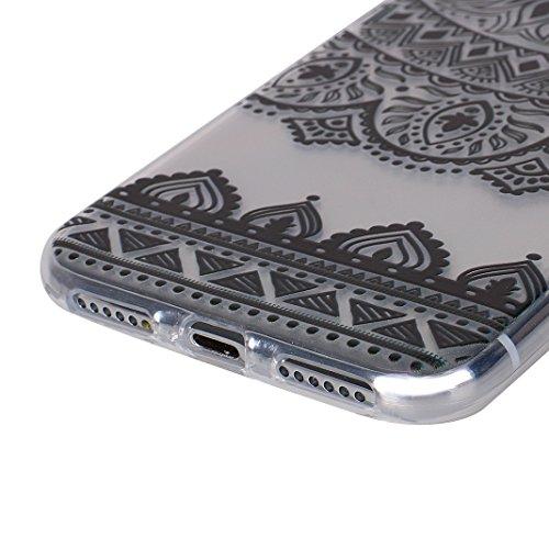 2 PCS iPhone X Slim Case 5.8 Zoll, iPhone 10 Slim Case, iPhone X Backcase, Moon mood® Geprägte Relief Gemalte TPU Silikon Handyhülle Schutzhülle Case für iPhone X / iPhone 10 5.8 Zoll Thin Dünn Weich  2 PCS 2
