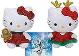 TY Hello Kitty Gingembre pain et décoration lumineuse 20,3cm Lot de 2jouets de Noël vacances d'hiver 2014avec Bonus Frozen Olaf Sticker...