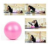 1pièce 25cm Mini boule de yoga physique Ballon de fitness pour l'entraînement Gym...