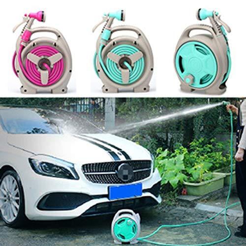 Preisvergleich Produktbild 13, 5 Mt Versenkbare Auto Auto Garten Wasserschlauchtrommel Lagerung Spritzpistole Zurückspulen Blau