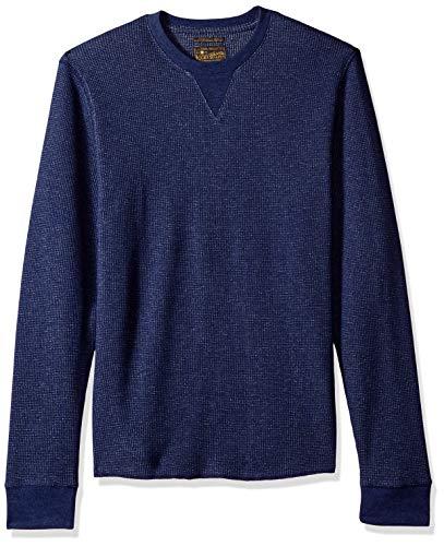 Burnout-thermal Shirt (Lucky Brand Herren Fleck Thermal Crew Neck T-Shirt, Navy, Groß)