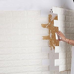 [Free Shipping] 4Pcs 3D Elasticity Brick Grain Wallpaper Wall Stickers DIY Anti-collision Sound Insulation Self-adhesion Decal BML® Brand // 4pcs 3d elasticidad de ladrillo pintado de grano pegatinas de pared bricolaje sonido anticolisión aislamiento au