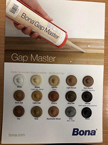 bona Brecha Master es un masilla senza silicona en colores de varios maderas, ideal para masilla parquet, zócalo y todos superficies de madera, inodoro ed atóxico - Roble tranasparente