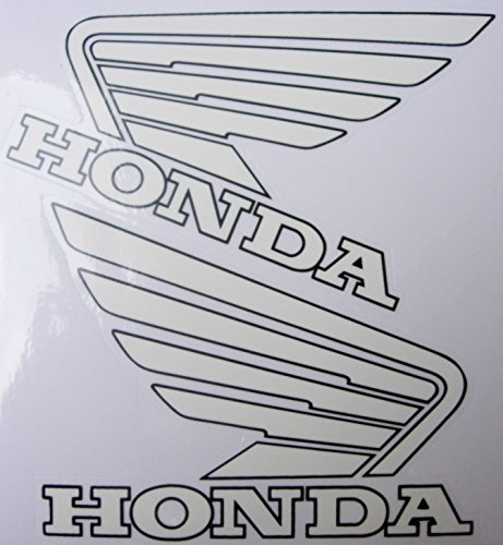 Tank White Honda Aufkleber Stickers Decals - Set of 2 Pieces (Left + Right) - Aufkleber-set Für Honda