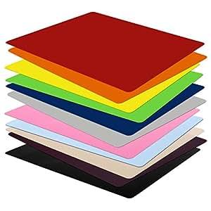 Sous-main casa pura® sans plastifiants / PVC   SET de 5 pièces   11 coloris au choix   parfait pour les enfants ou le bureau   taille 50x65cm, noir