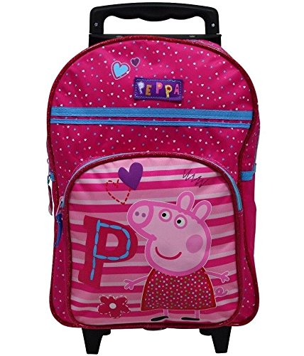 Spielwaren-Klee-Peppa-Wutz-Pig-Trolley-Rucksack-Kindertrolley-Koffer-Tasche-Handgepck-Pink-8530