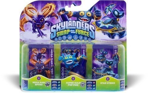 Skylanders Swap Force Triple Pack Magic (Spyro/Pop Fizz/Star Strike)