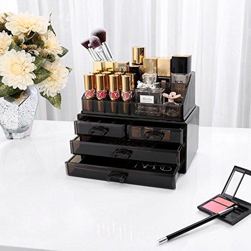 comprare on line SONGMICS Cosmetic Organizer Scatola Organizzatore Makeup Acrilico Cassettiera Trasparente JKA007B prezzo