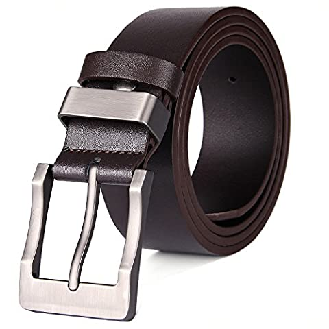 XIANGUO Mens Pin Buckle Belt Genuine Leather Antique Casual Style